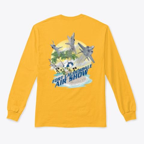 2020 Fort Lauderdale Air Show T Shirt Gold T-Shirt Back