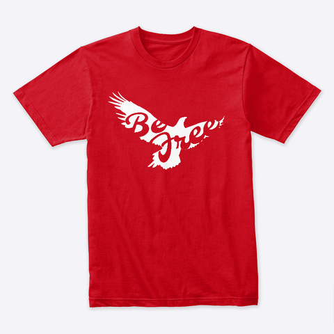 Be Free Red T-Shirt Front