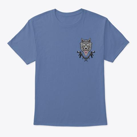 Wild Wolf Denim Blue T-Shirt Front