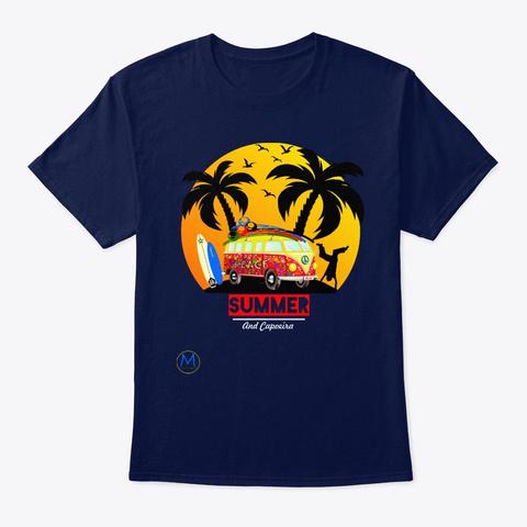 Capoeira Summer Navy T-Shirt Front