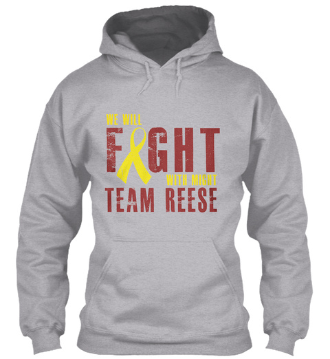Fight With Might Team Reese Sport Grey T-Shirt Front