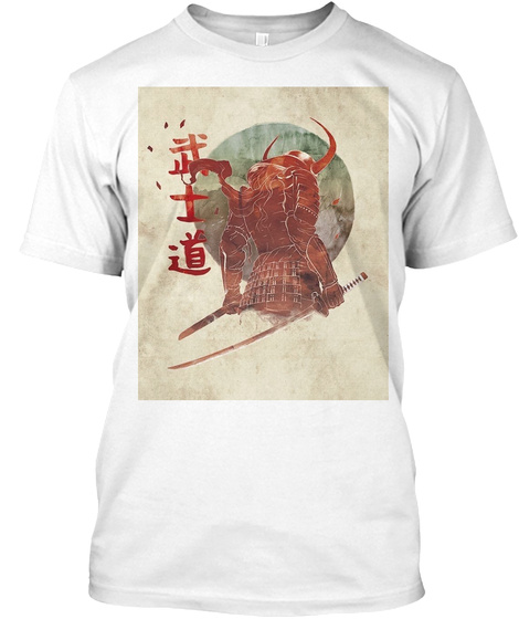 The Red Samurai White T-Shirt Front