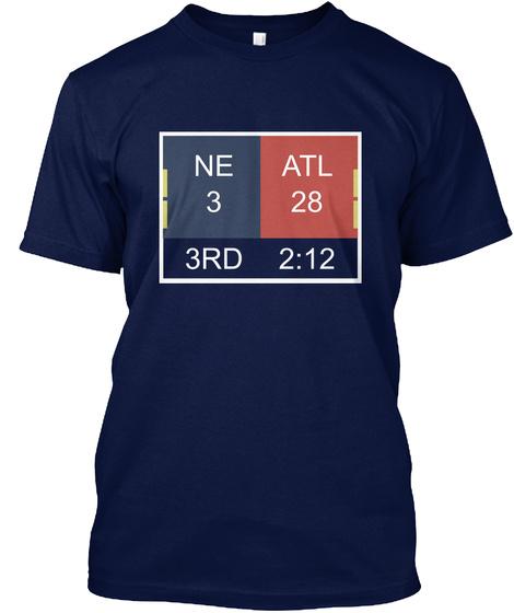 Ne 3 Atl 28 3rd 2:12 Navy T-Shirt Front