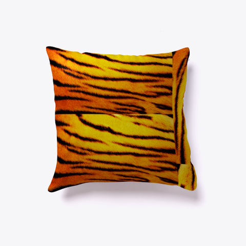 Tiger Skin Pillow. Black T-Shirt Back