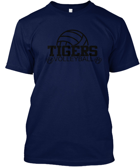Tigers Volleyball Navy T-Shirt Front