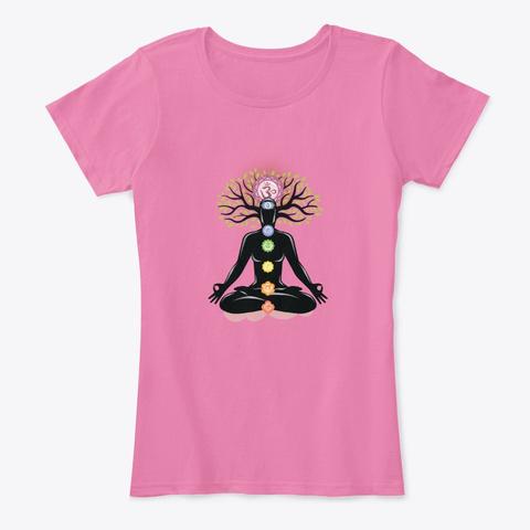 Meditation (02)   Chakras True Pink T-Shirt Front