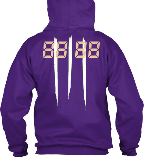 88 88 Purple Sweatshirt Back