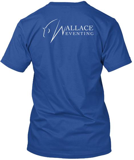 Wallace Eventing Deep Royal T-Shirt Back