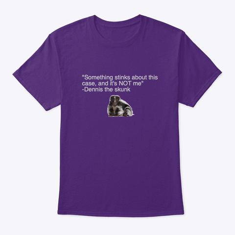Dennis The Skunk  Purple T-Shirt Front