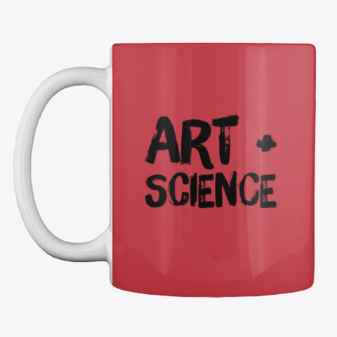 Art + Science Bright Red T-Shirt Front
