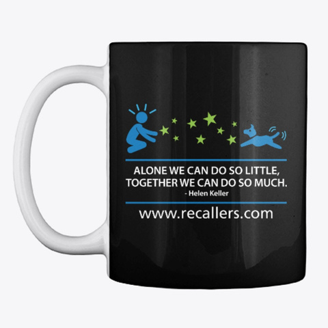 Recallers Hoodies, Tees And Mugs Black T-Shirt Front
