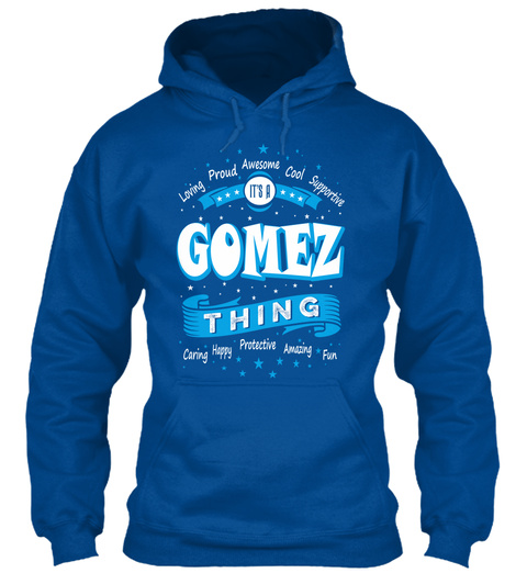 Name Gomez Christmas Weather Royal T-Shirt Front