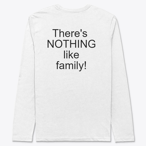 Black Family Table Talk Long White T-Shirt Back