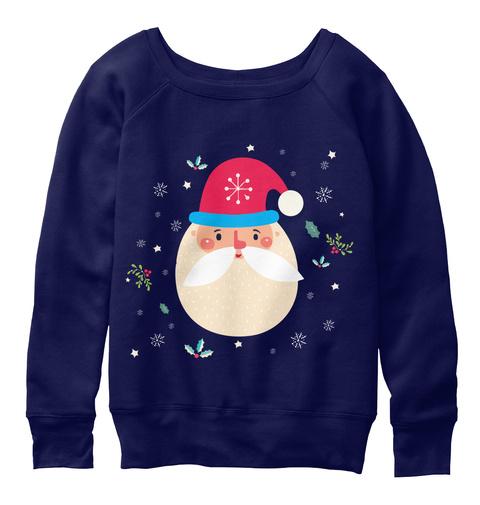 Womens Christmas Sweatshirts Navy  T-Shirt Front