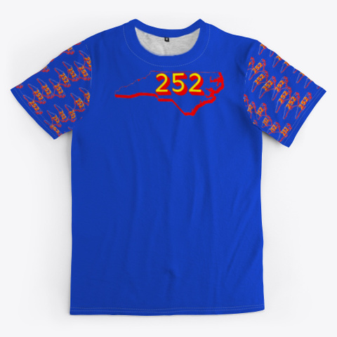 Nc Area Code 252 Royal Blue T-Shirt Front