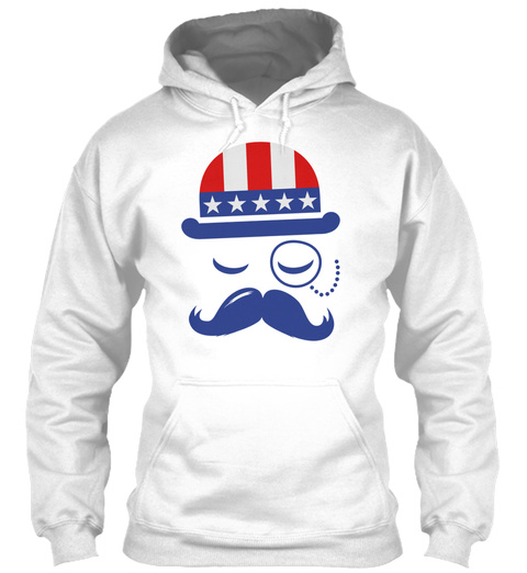 I Heart Like A America Holiday Usa Ameri White T-Shirt Front