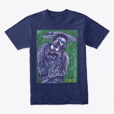 St. Bird Midnight Navy T-Shirt Front