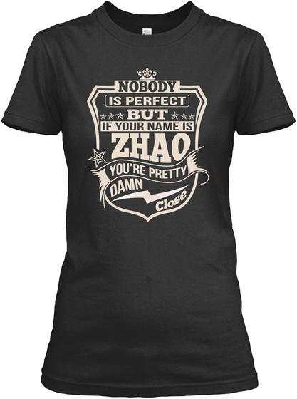 Nobody Perfect Zhao Thing Shirts Black T-Shirt Front