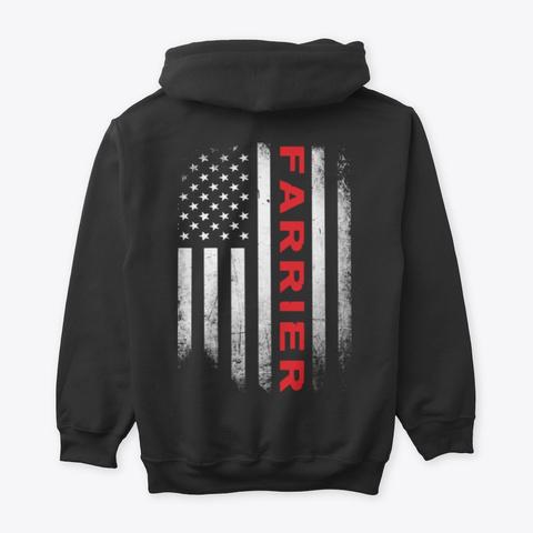 Us Flag Farrier Shirt Black T-Shirt Back