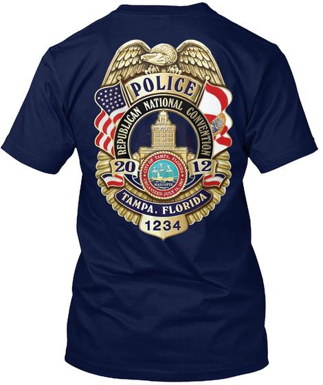 Us Police  Beautiful T'shirt Navy T-Shirt Back