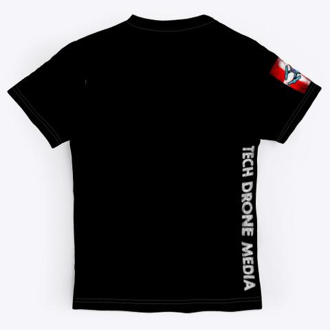 Tech Drone Media Official T Shirt Black T-Shirt Back