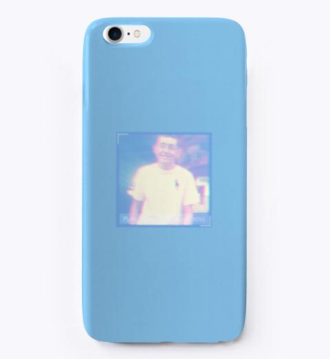 Glitch Design Phone Case Light Blue T-Shirt Front