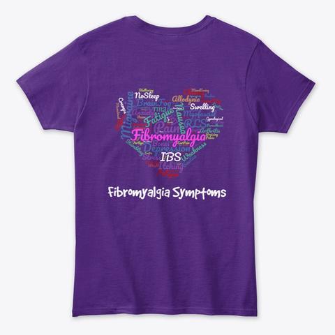 Fibromyalgia Symptoms Purple Women's T-Shirt Back