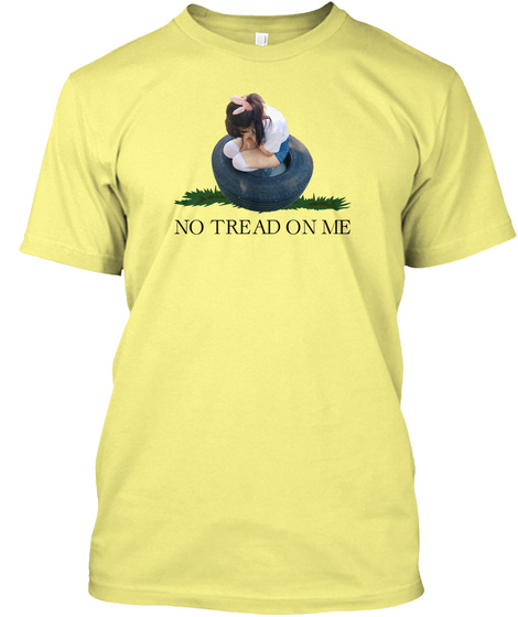 No Tread On Me Lemon Yellow  T-Shirt Front