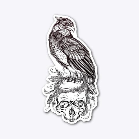 Hawk Sitting On Skull Standard T-Shirt Front