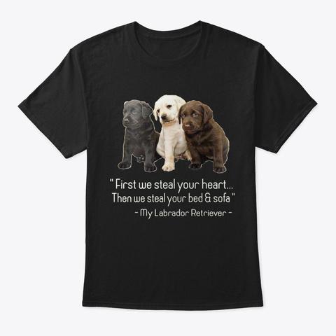 Labrador Retriever Black T-Shirt Front