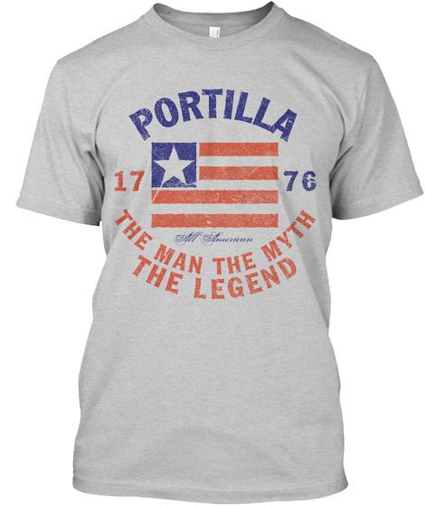 Portilla American Man Myth Legend Light Steel T-Shirt Front