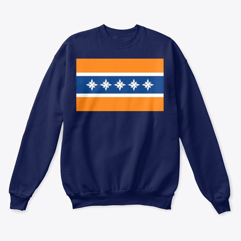 Albany Flag Merchandise Navy  T-Shirt Front