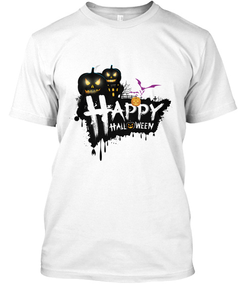 Happy Halloween (Shirt + Mugs) White T-Shirt Front