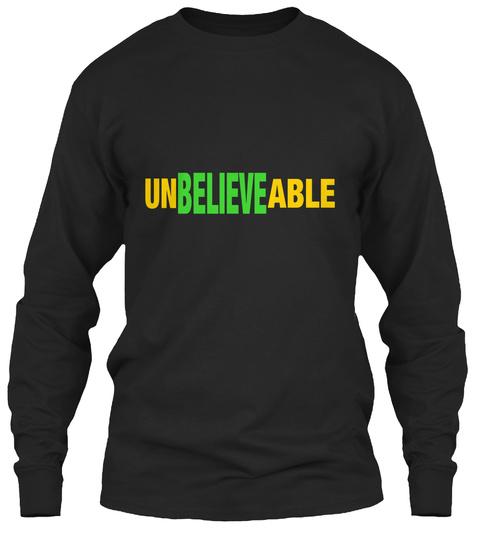 Believe Un  Able  Black T-Shirt Front