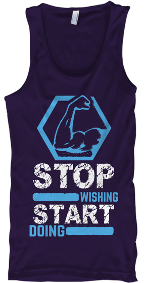 Stop Wishing Start Doing Team Purple Camiseta de Tirantes Front