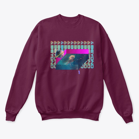 Deep Maroon  T-Shirt Front