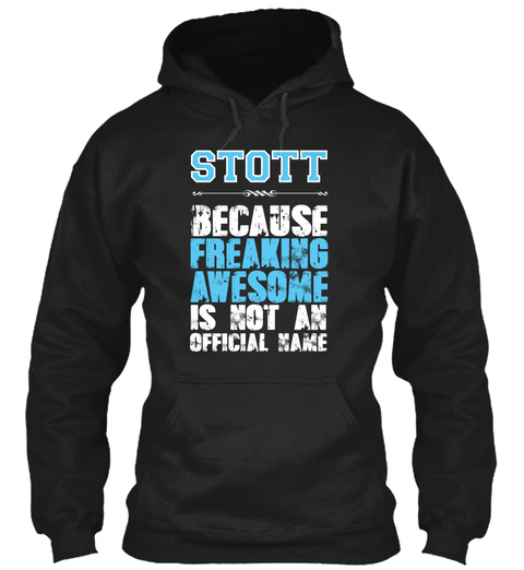 Stott Is Awesome T Shirt Black T-Shirt Front
