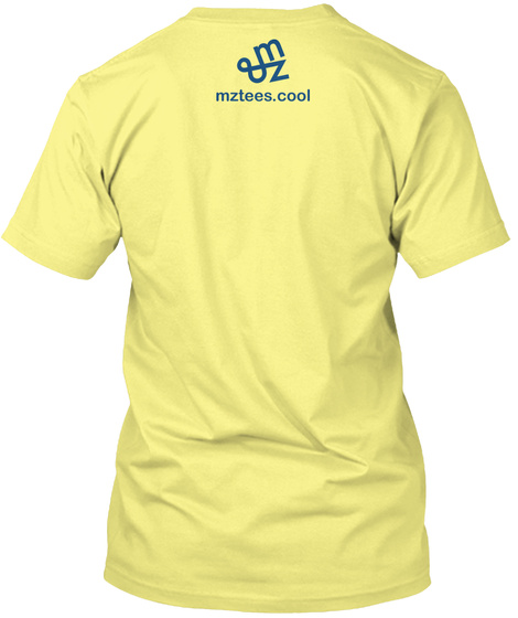 Shark Fish Lemon Yellow  T-Shirt Back