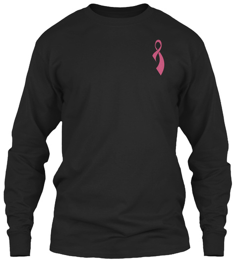 Breast Cancer Awareness [Christmas] Black Long Sleeve T-Shirt Front