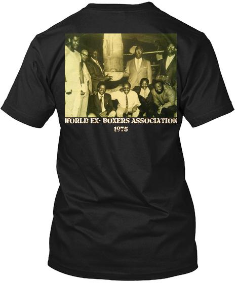World Ex  Boxers Association 1975 Black T-Shirt Back