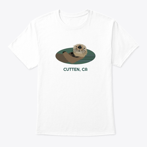 Cutten Ca Otter Pnw Tribal White T-Shirt Front