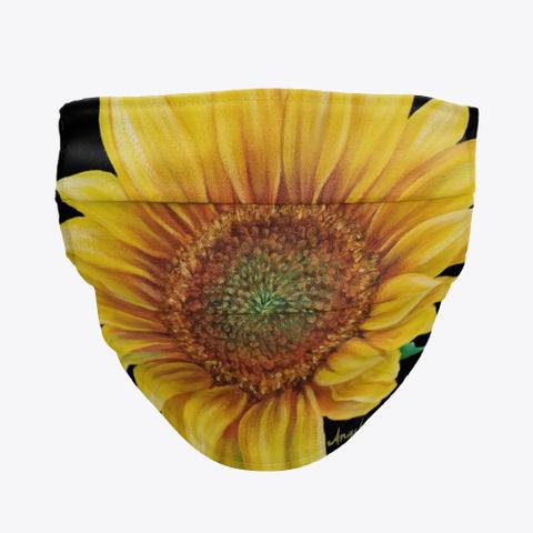 Sunflower Face Mask Standard T-Shirt Front