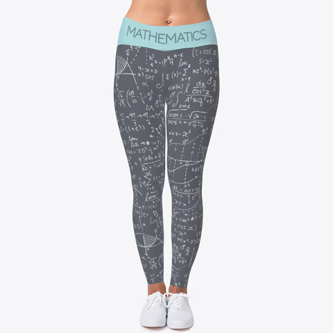 Mathematics Legging Gray Standard Camiseta Front