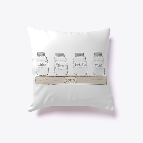 Tear Collection Pillow White T-Shirt Front