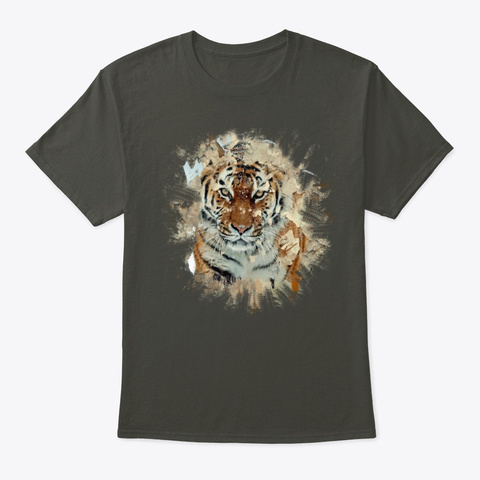''let's Save The Tiger''  Smoke Gray T-Shirt Front
