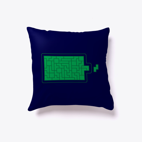Battery Tetris Pillow Dark Navy T-Shirt Front