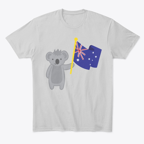 First Australia For Bushfire Relief Light Heather Grey  T-Shirt Front