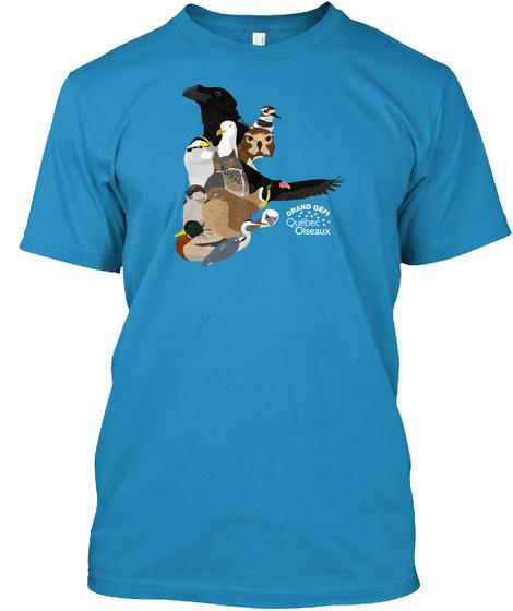 Grand Defi Qucbec Oiseaux Sapphire T-Shirt Front