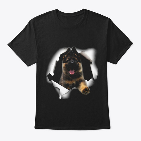 3 D Gsd   Just For German Shepherd Lovers Black T-Shirt Front