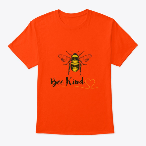 Cool Be Kind Gift For Women Men Kids Orange T-Shirt Front
